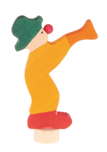 Grimm's Stecker Clown gelb 03830